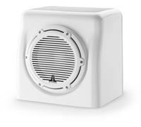 JL Audio FS108-W5-CG-WH: Single M8W5, Fiberglass Sealed Enclosure, White Classic Grille