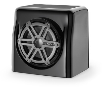 JL Audio  FS110-W5-SG-TB: Single M10W5, Fiberglass Sealed Enclosure, Titanium Sport Grille