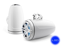 JL Audio 8.8-inch (224 mm)  Enclosed Tower Coaxial System, White Gel-Coat, with Blue LED - M880-ETXv3-SG-WHLD-B