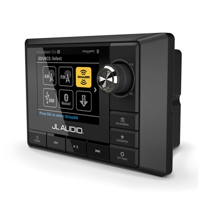 JL Audio MM100s-BE: Weatherproof Source Unit with Full-Color LCD Display