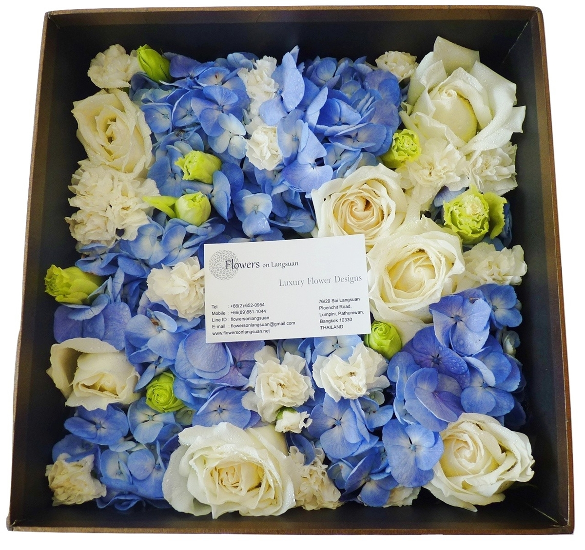 Blue white flowers box square our mightylinksfo