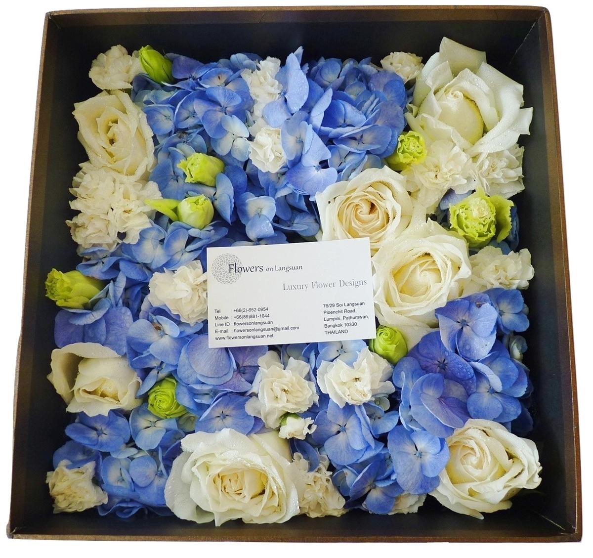 Blue white flowers box square our izmirmasajfo