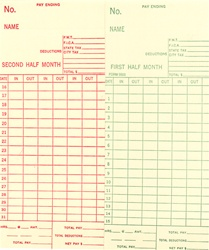 5503 Time Card: Monthly & Semi-Monthly