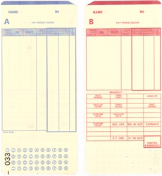 S99P-2M-001-025 Time Card