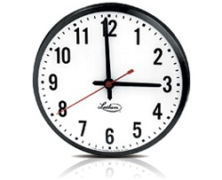 "Lathem SS12RSA Wired Synchronized 12"" Wall Clock - 115VAC Surface Mount"