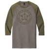 Bomber 3/4 Sleeve Heather OD Green
