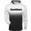 Bomber Fastpitch Black/White Ombre Hoodie