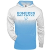 Bomber Carolina/White Ombre Hoodie