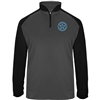 Bomber Fastpitch Charcoal/Black 1/4 zip