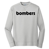 Bomber Fastpitch Fleece Pullover-Silver
