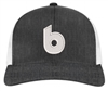 BF Heather Black/White Snap Back Retro