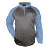 Bomber Fastpitch Heather/Carolina 1/4 zip Sport Fllece