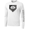 Bombers Long Sleeve American Shield White Dryfit