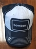 Bomber Ladies Patch Hat-Black/White