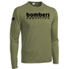 Bombers Fastpitch OD Green Dryfit Long Slv