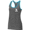 Bombers Racerback Tank-Heather Black/Carolina