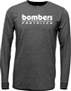 Bomber Retro Charcoal Heather Long Sleeve