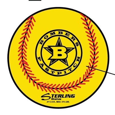 Bomber Logo Softball from Sterling 1/2 dozen