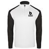 Bomber Fastpitch White/Black 1/4 zip