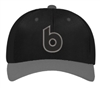 Black/Charcoal retro b hat