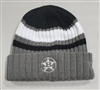 Grey, black and white beanie with b-star logo