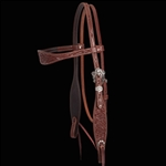 Relentless Tooled Floral Browband Headstall