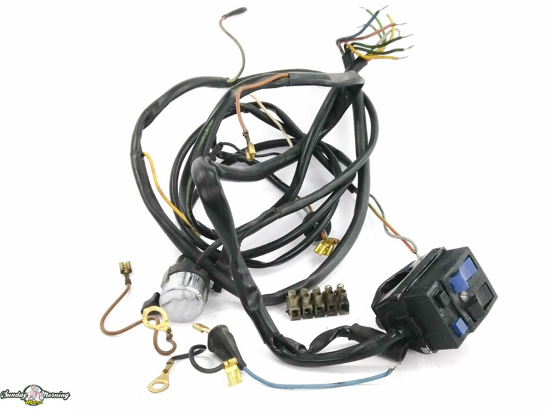 kreidler mp9 moped wiring harness  vintage moped parts