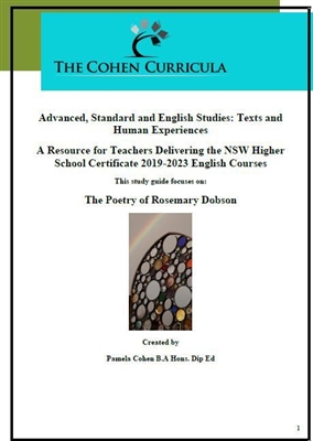 The Cohen Curricula: Texts and Human Experiences: The Poetry of Rosemary Dobson