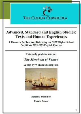 The Cohen Curricula: Texts and Human Experiences: The Merchant of Venice