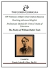Preliminary Advanced Module B Critical Study of Literature: W.B Yeats