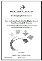 The Cohen Curricula English Resources: How to Study Context