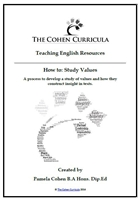 The Cohen Curricula English Resource: How to Study Values for the NSW Higher School Certificate English Courses