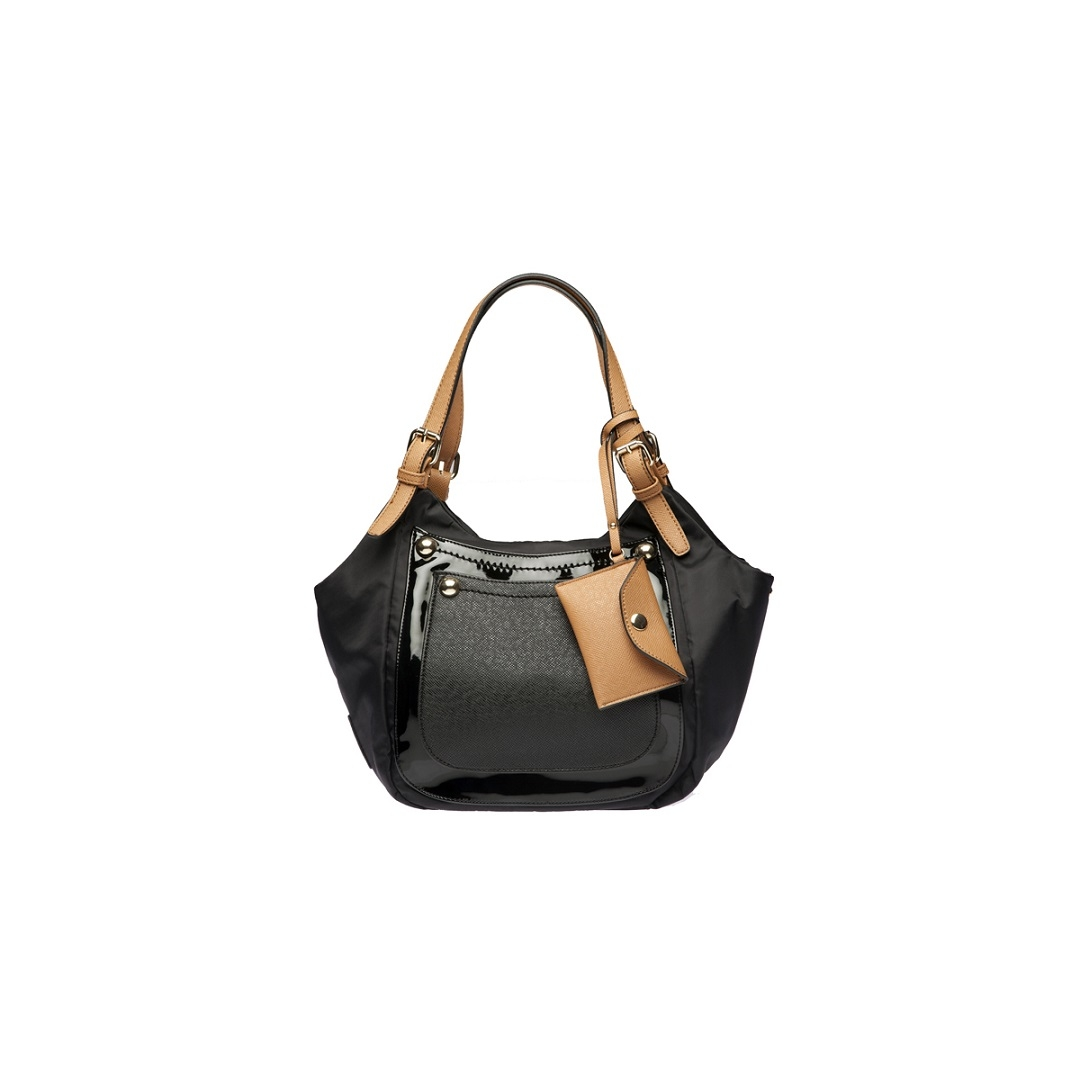 Sondra Roberts Two Pocket Nylon Hobo   Wristlet Handbag e38ed35c762d8