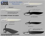 Everything Wing Chun Custom Shop - Design Your Own Baat Jaam Dao (Butterfly Swords)