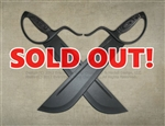 "Wing Chun Butterfly Swords - Flagship Line, Tough-As-Hell Edition - Chopper 13"" Blade - All Black - Sharp"