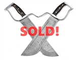 Wing Chun Butterfly Swords - Tomb Warrior Line v3 Sifu Grade Damascus Chopper 12 - Sharp