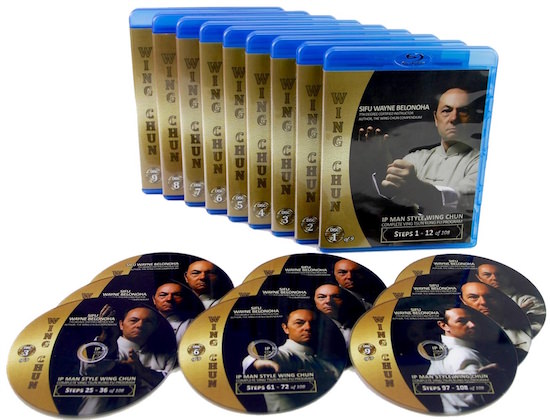 Bundle - Wayne Belonoha - Ip Man Wing Chun System - Steps 01-108 (Blu-Ray)
