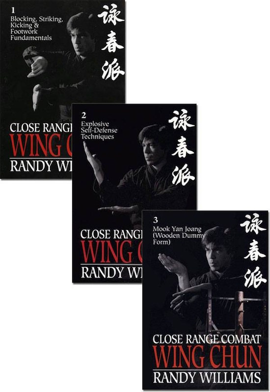 Bundle - Randy Williams - Close Range Combat Wing Chun Book Set - 2015 Edition