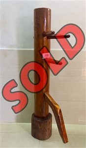 Buick Yip - Temple Pillar Wood Wing Chun Wooden Dummy -  Mook Yan Jong 558