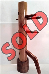 Buick Yip - Mahogany Wood Wing Chun Wooden Dummy -  Mook Yan Jong 570 JUNIOR DUMMY
