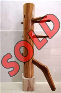 Buick Yip - Temple Pillar Wood Wing Chun Wooden Dummy -  Mook Yan Jong 615