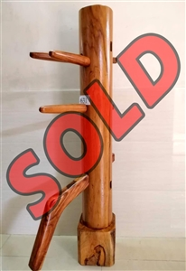 Buick Yip - Temple Pillar Wood Wing Chun Wooden Dummy -  Mook Yan Jong 631