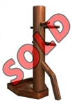 MasterPath - Free-Standing Wing Chun Wooden Dummy with Elite base SAPELE 2 (Pre-Made Ready to Ship)