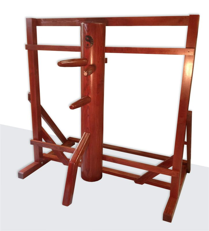 wing chun wooden dummy warrior traditional free standing frame