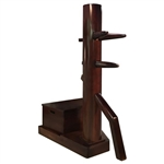 Wooden Dummy - Free-Standing Modern Stand with Box