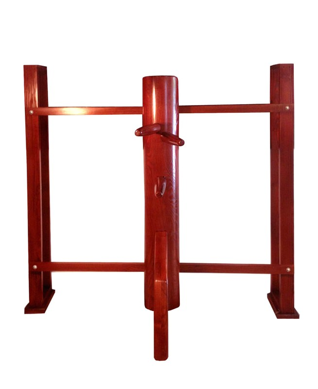 WING CHUN WOODEN DUMMY: Warrior - Wall Stand (Made on Demand)