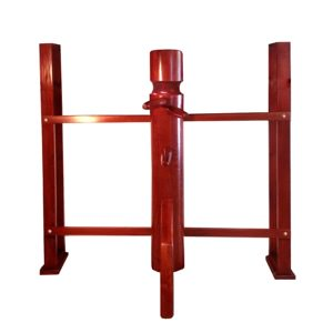 JKD Wooden Dummy - with Wall Mounted Stand (Made on Demand)