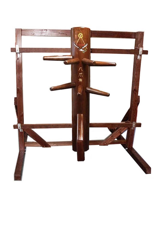 Wooden Dummy - The OCTOPUS (with Frame Stand) - Designed by Sifu Randy Williams