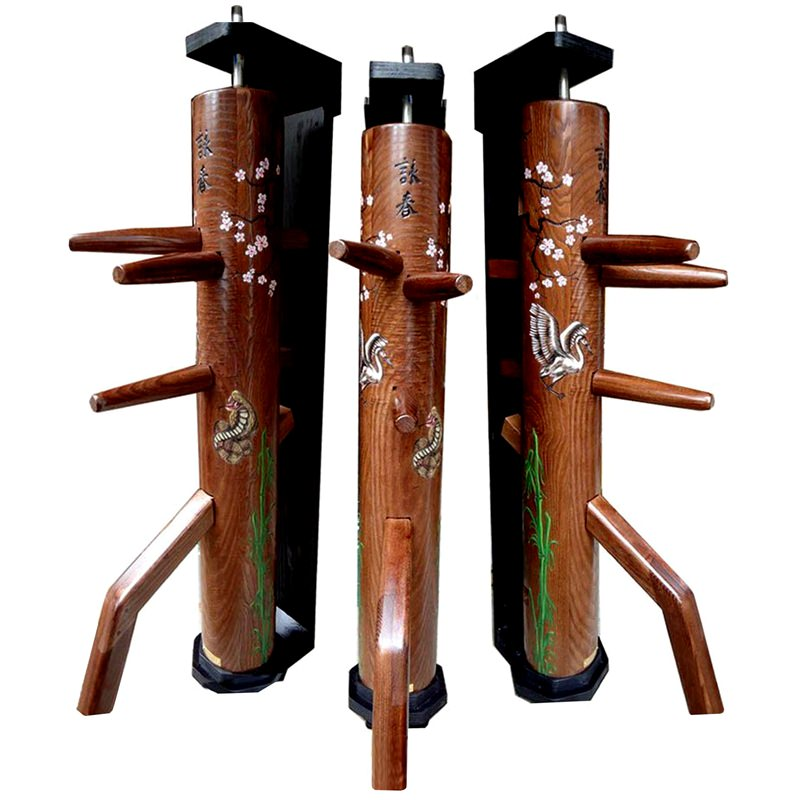 Sporting Goods Wing Chun Wooden Dummy With Closed Base Color Natural Cheap Sales 50% Other Combat Sport Supplies