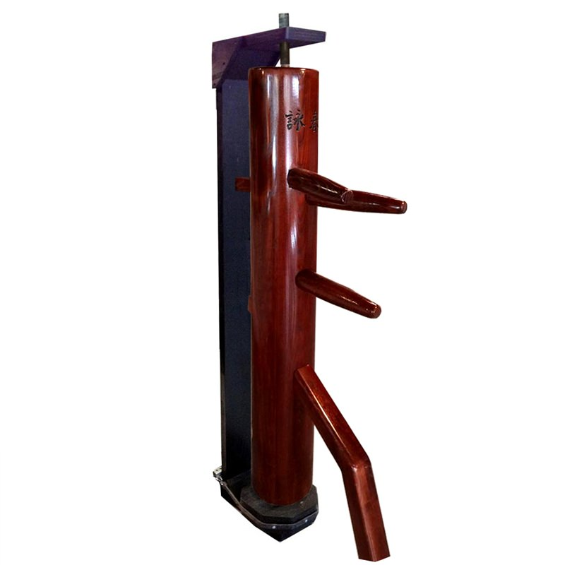 Wing Chun Wooden Dummy With Closed Base Color Natural Cheap Sales 50% Boxing, Martial Arts & Mma